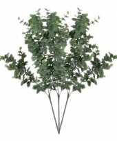 Goedkope x grijs groene eucalyptus kunsttakken kunstplant 10140224