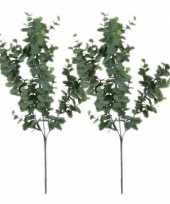 Goedkope x grijs groene eucalyptus kunsttakken kunstplant