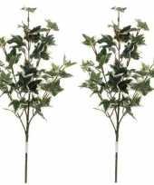 Goedkope x groen geelbonte hedera klimop kunsttak kunstplant
