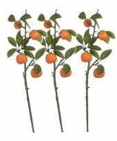 Goedkope x groen oranje citrus sinensis sinaasappelboom kunsttak 10140263