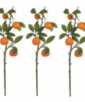 Goedkope x groen oranje sinaasappelboom fruitboom kunsttak kunstplant 10160002