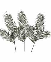 Goedkope x groene areca goudpalm kunsttakken kunstplanten 10140245