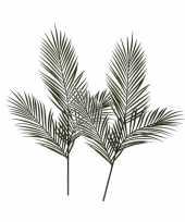 Goedkope x groene areca goudpalm kunsttakken kunstplanten