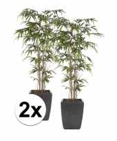 Goedkope x groene bamboe promo kunstplant pot
