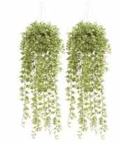 Goedkope x groene hedera klimop kunstplanten hangende pot