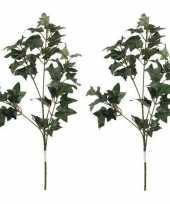 Goedkope x groene hedera klimop kunsttak kunstplant