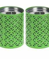 Goedkope x groene kaarshouders citronella waxinelichtjes