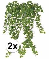Goedkope x groene klimop takken kunstplanten 10107362