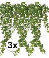Goedkope x groene klimop takken kunstplanten 10107363