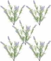 Goedkope x groene lilapaarse lavandula lavendel kunstplanten bosje 10155830