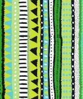 Goedkope x groene servetten motief