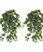 Goedkope x groene witte hedera helix klimop kunstplant buiten