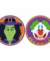 Goedkope x halloween onderzetters heks horror clown