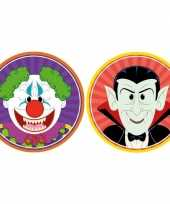 Goedkope x halloween onderzetters horror clown vampier dracula