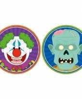 Goedkope x halloween onderzetters horror clown zombie
