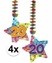 Goedkope x hangdecoratie sterren jaar 10126765