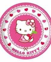 Goedkope x hello kitty themafeest bordjes 10152835