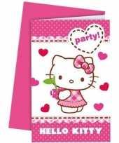 Goedkope x hello kitty themafeest uitnodigingen 10152834