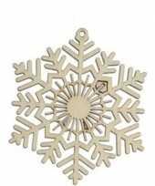 Goedkope x houten sneeuwvlok type kerstversiering hangdecoratie 10111265