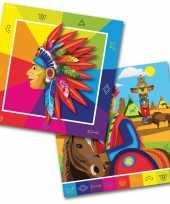 Goedkope x indianen western themafeest servetten papier