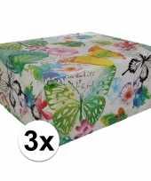 Goedkope x inpakpapier bloemen motief rol type 10124730