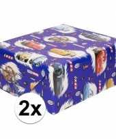 Goedkope x inpakpapier cadeaupapier disney cars blauw