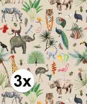 Goedkope x inpakpapier cadeaupapier jungle 10136888