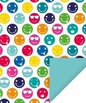 Goedkope x inpakpapier gekleurde smileys rol 10123167