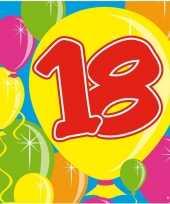 Goedkope x jaar leeftijd themafeest servetten balloons 10160684