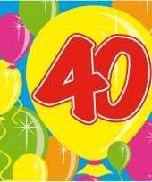 Goedkope x jaar leeftijd themafeest servetten balloons 10160688