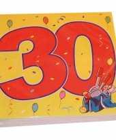 Goedkope x jaar leeftijd themafeest servetten confetti 10160692