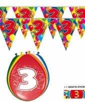 Goedkope x jaar vlaggenlijn ballonnen 10084737