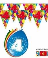 Goedkope x jaar vlaggenlijn ballonnen 10084738