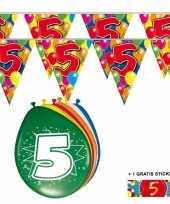 Goedkope x jaar vlaggenlijn ballonnen 10084740