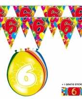 Goedkope x jaar vlaggenlijn ballonnen 10084741