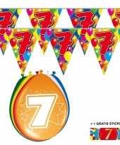 Goedkope x jaar vlaggenlijn ballonnen 10084742