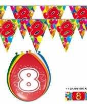 Goedkope x jaar vlaggenlijn ballonnen 10084743