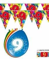Goedkope x jaar vlaggenlijn ballonnen 10084744