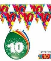 Goedkope x jaar vlaggenlijn ballonnen 10084745