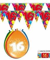 Goedkope x jaar vlaggenlijn ballonnen 10084746