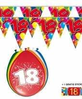Goedkope x jaar vlaggenlijn ballonnen 10084747