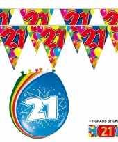 Goedkope x jaar vlaggenlijn ballonnen 10084751