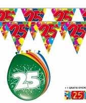 Goedkope x jaar vlaggenlijn ballonnen 10084752