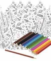 Goedkope x knutsel papieren kroontjes om te kleuren incl potloden