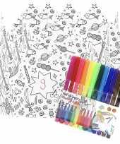 Goedkope x knutsel papieren kroontjes om te kleuren incl stiften