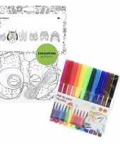 Goedkope x knutsel papieren maskers om te kleuren incl stiften