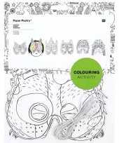 Goedkope x knutsel papieren maskers om te kleuren kinderen 10156063