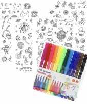 Goedkope x knutsel stickervellen om te kleuren incl stiften kids