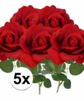 Goedkope x kunstbloem roos carol rood 10101789