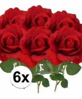 Goedkope x kunstbloem roos carol rood 10101790